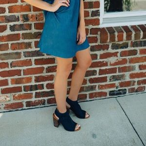 Blue Denim Heels